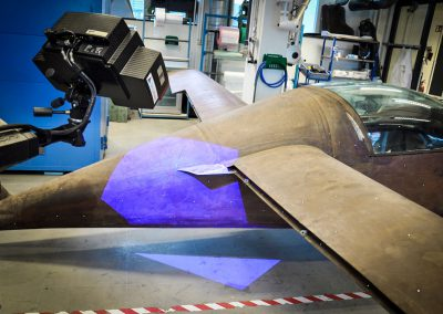 Airplane digitalization by CAD activities