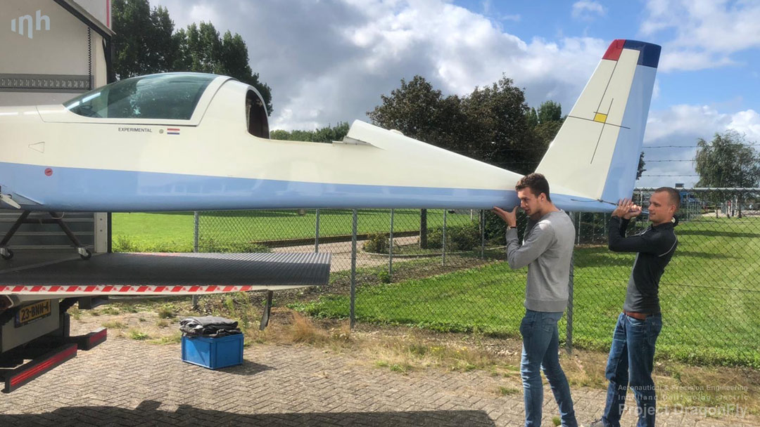 project dragonfly inholland aeronautical precision engineering delft sustainable aviation PH-HBR