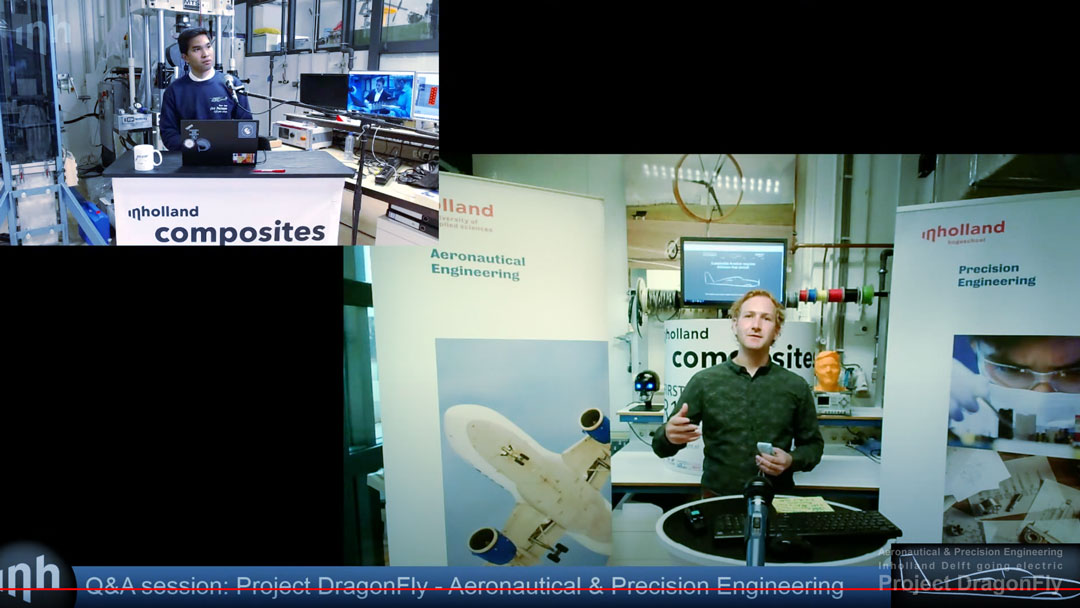 project dragonfly aeronautical & precision engineering inholland university of applied sciences delft the netherlands electric propulsion sustainable aviation simulation digital twin augmented reality small composites lightweight aircraft retrofit zero emission free Dutch initiative Platform Duurzaam Vliegen AeroDelft Falcon Electric DEAC V.S.V. Sipke Wynia Guest Lecture