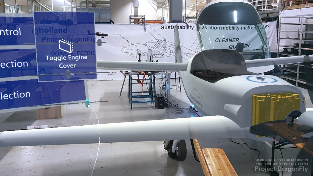 Dragonfly TPY Technology Park Ypenburg electric airplane propulsion Saluqi Stephen Hands Arnold Koetje Inholland Aeronautical Precision Engineering Delft Applied Sciences labs digital twin
